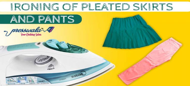 Ironing of pleated skirts and pants