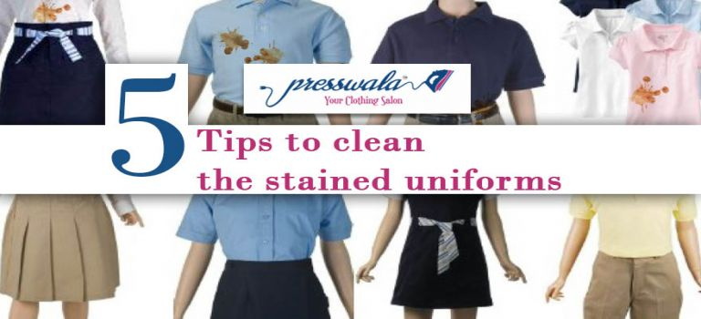 Tips to clean the stained uniforms